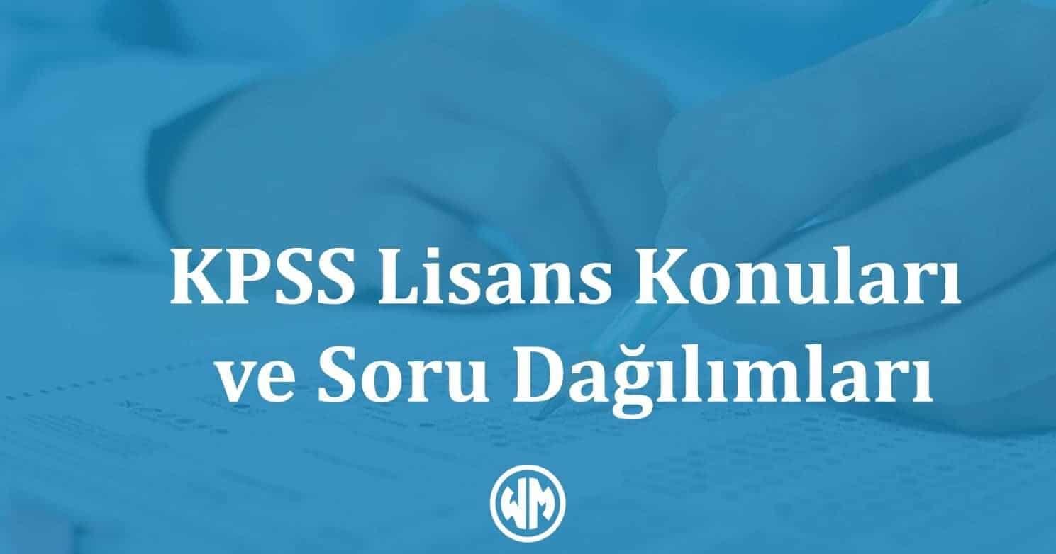 KPSS Lisans Konuları
