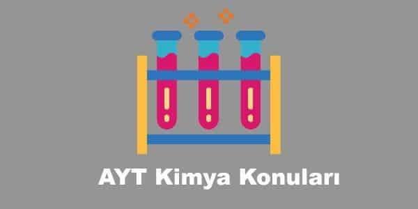 AYT Kimya Konuları ve Soru Dağılımları