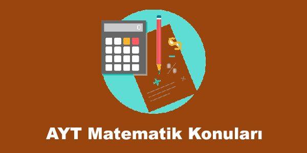 AYT Matematik Konuları ve Soru Dağılımları