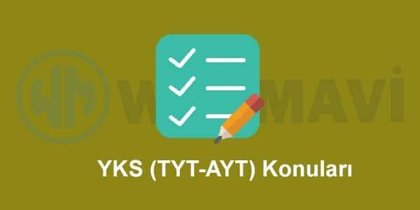 2019 YKS (TYT-AYT) Konuları ve Soru Dağılımı